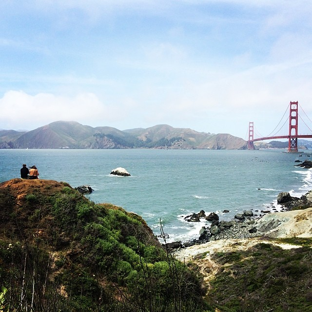 Spotted near the Golden Gate: A couple enjoying the view. (Olivia Allen-Price/KQED)