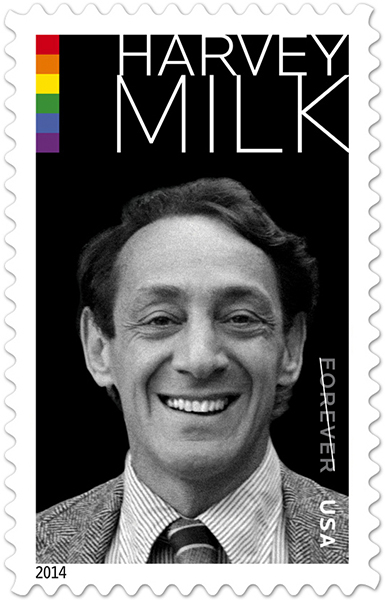 Harvey Milk stamp released May 22, 2014, by the U.S. Postal Service. (USPS)