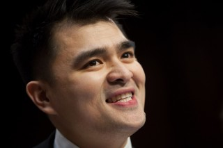 Jose Antonio Vargas testifies during a Senate Judiciary Committee hearing on 'Comprehensive Immigration Reform,' in Washington DC, February, 2013. (Allison Shelley/Getty Images)