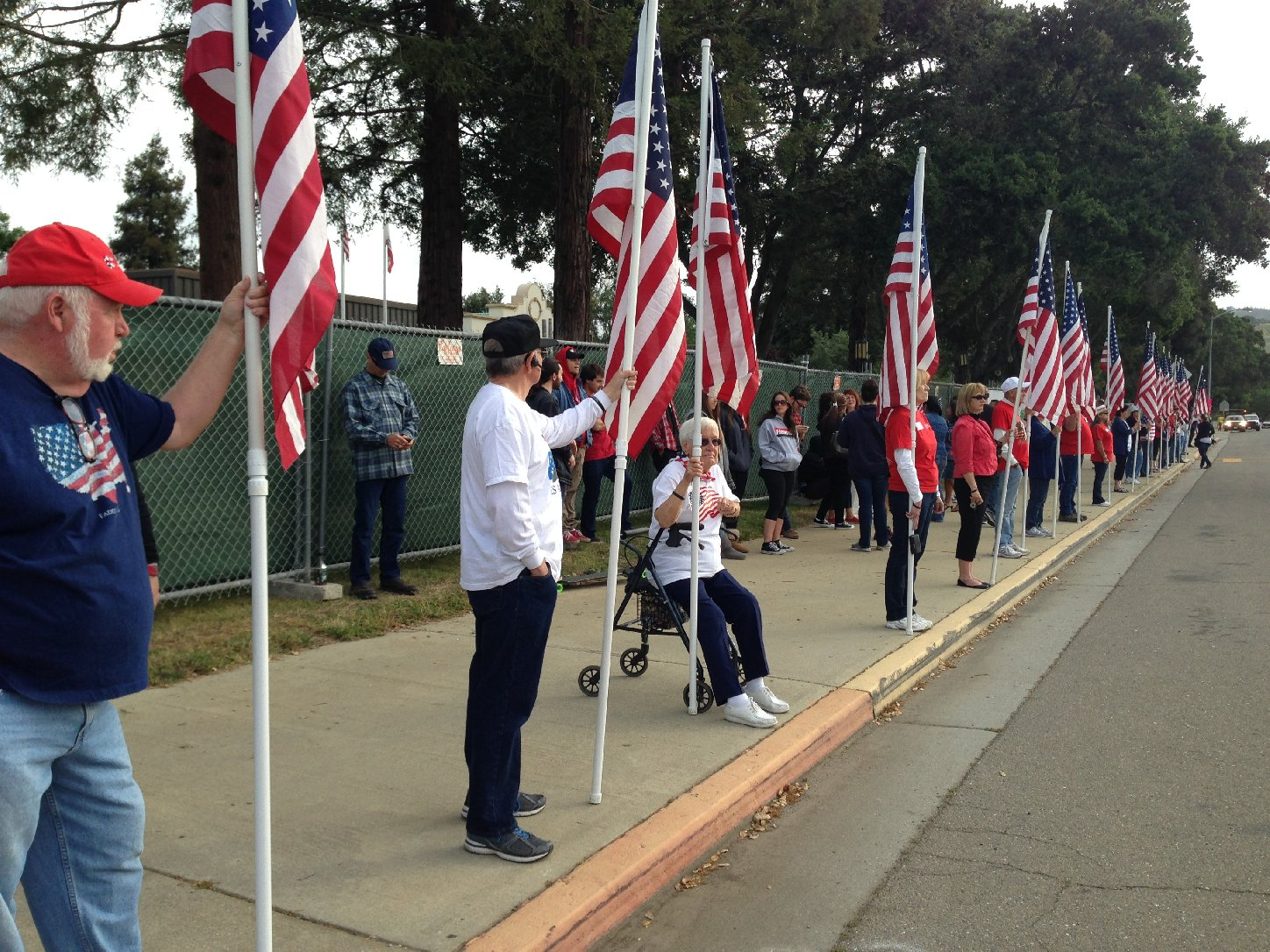 Cinco de Mayo Flag Protesters Hit the Streets in Morgan Hill