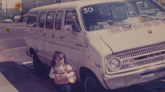 Di Pilla's original Jitney, with a young Michele, in 1976. Photo courtesy of the Di Pilla family.