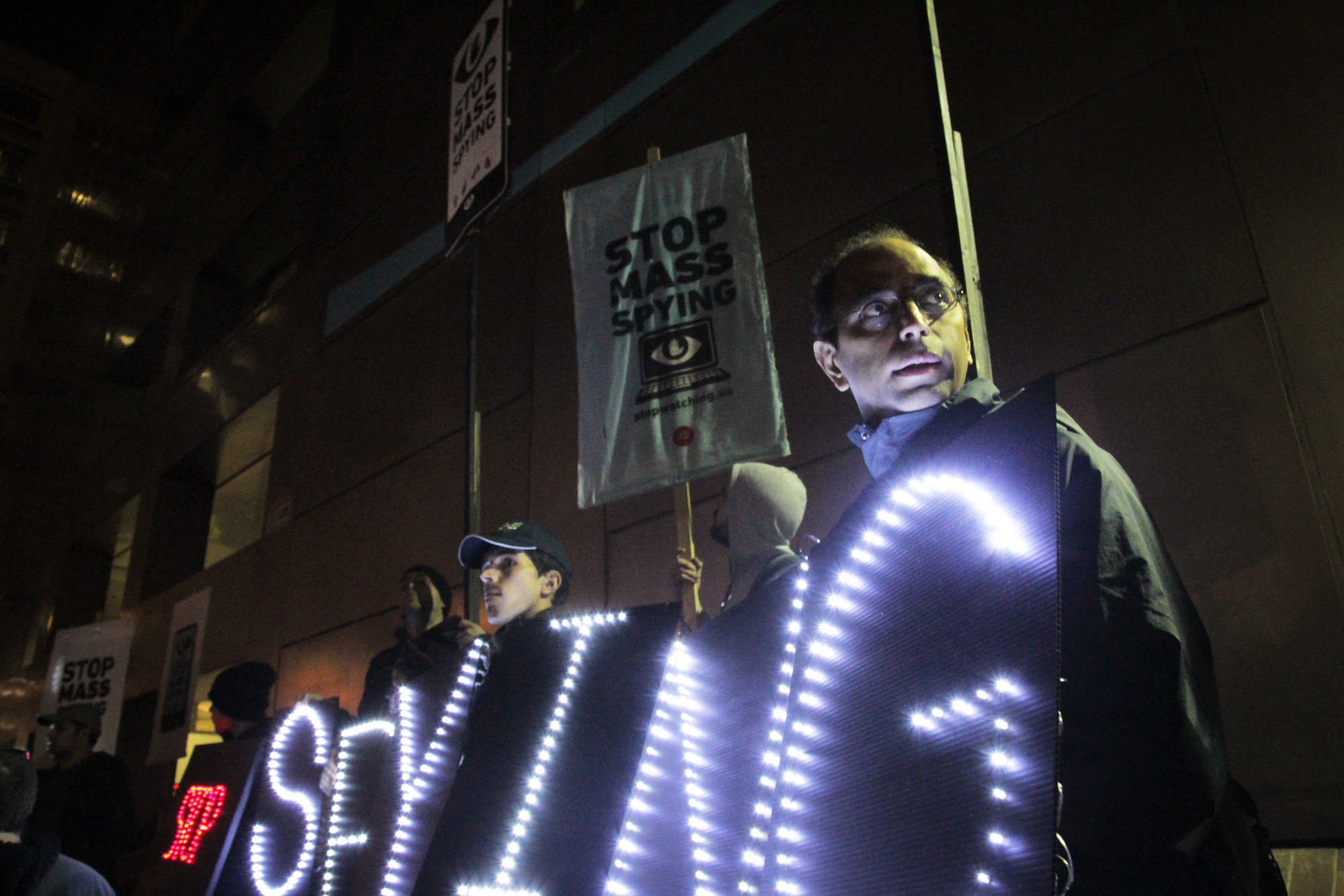 No Spying-Surveillance Protest