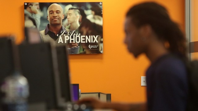 Nationally, the University of Phoenix received nearly $1 billion from the new GI Bill over the last five years.  (Adithya Sambamurthy/CIR)