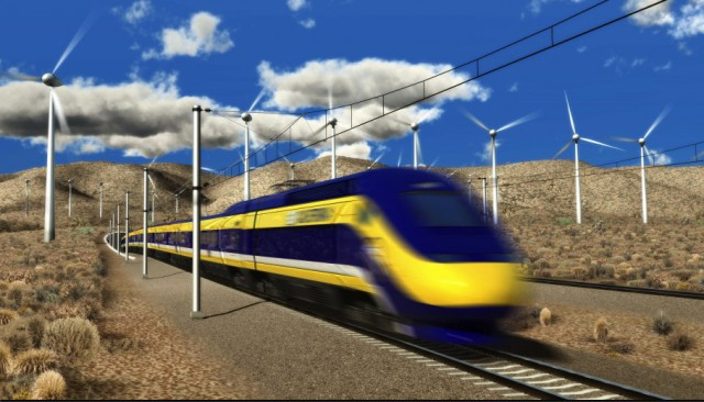 Rendering of high-speed rail. (Courtesy the High-Speed Rail Authority)