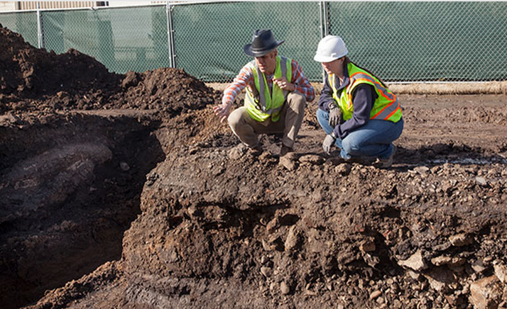 Archeologists from Archeo-Tec of Oakland excavated a site at 1900 Fourth St. in the winter of 2014 to look for evidence of the Berkeley shellmound's existence. Photo: Archeo-Tec