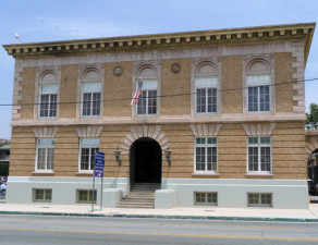 Police station house 11 built in 1925, now home to the Los Angeles Police Museum. (Peter Gilstrap/KQED)