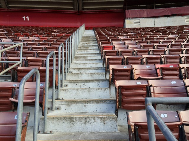 A portion of the upper deck and Candlestick Park. Stadium is due for demolition early next year. (Dan Brekke/KQED)