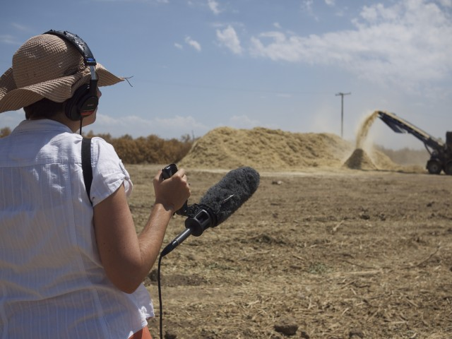 KQED's Sasha Khokha, on assignment in the San Joaquin Valley. (Suzie Racho/KQED)