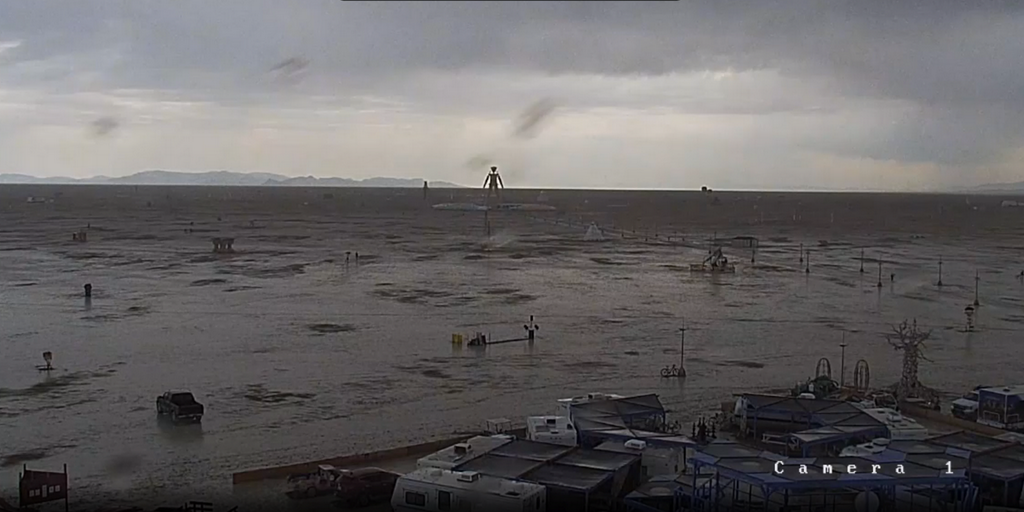Burning Man Weather: Rain and Muck, Followed by Sun and Rave
