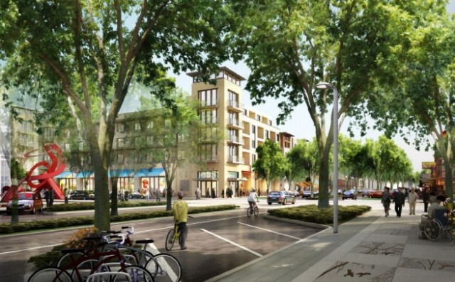 Artist's rendering of proposed Capitol Avenue development in Fremont's downtown district.