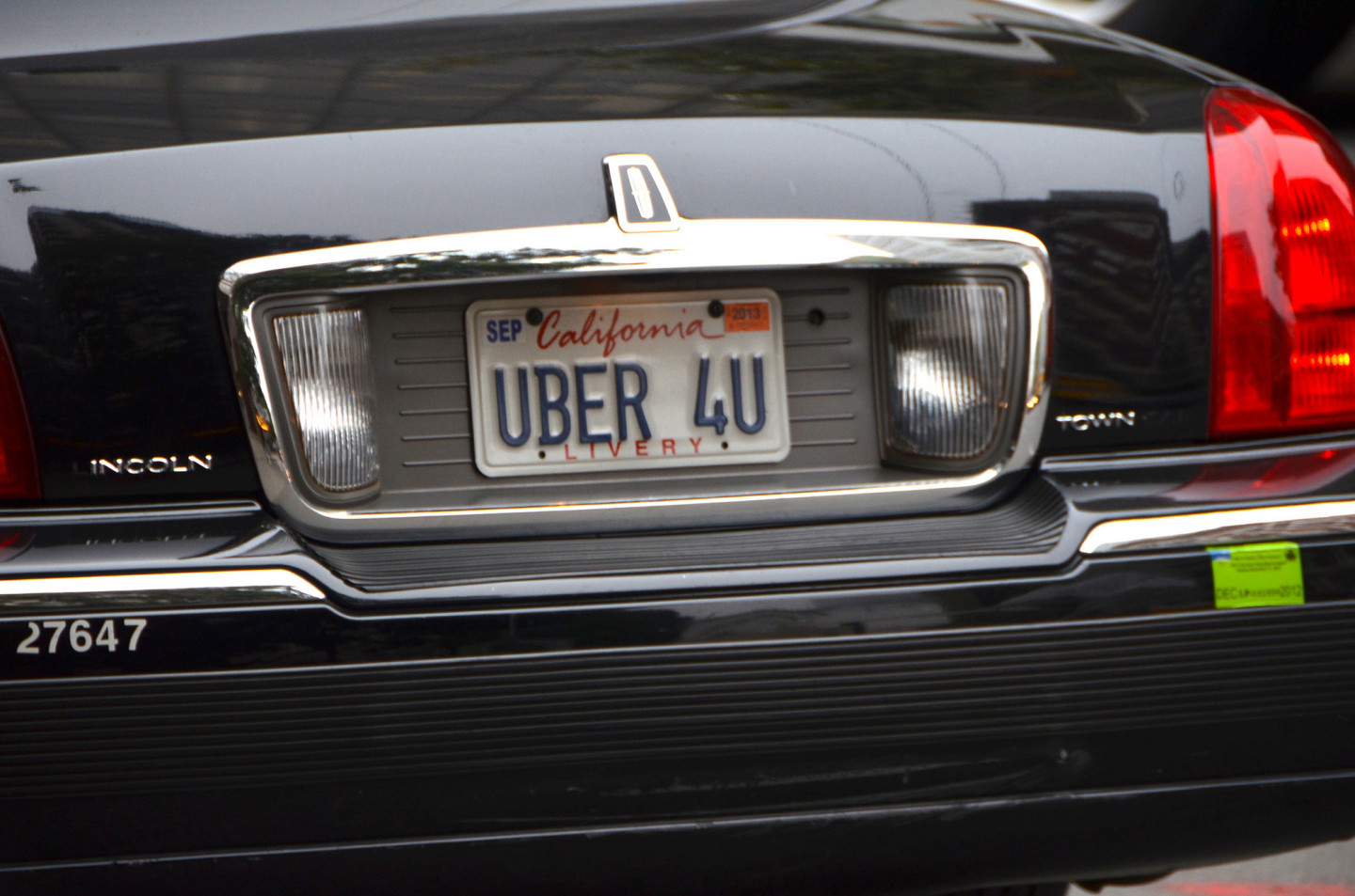 An Uber car drives in San Francisco, where ride services are now a major presence.