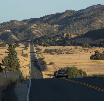 A 3.0 earthquake was recorded early Thursday near this area along Highway 25, south of Hollister. (Dan Brekke/KQED)