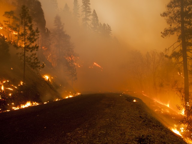 The Happy Camp Complex fire burns in Siskiyou County earlier this week. (Kari Greer via Flickr and California Interagency Incident Management Team 1)