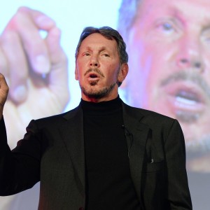 Oracle's Larry Ellison during an appearance at the New Economy Summit in Tokyo earlier this year.  (Toru Yamanaka/AFP-Getty Images)