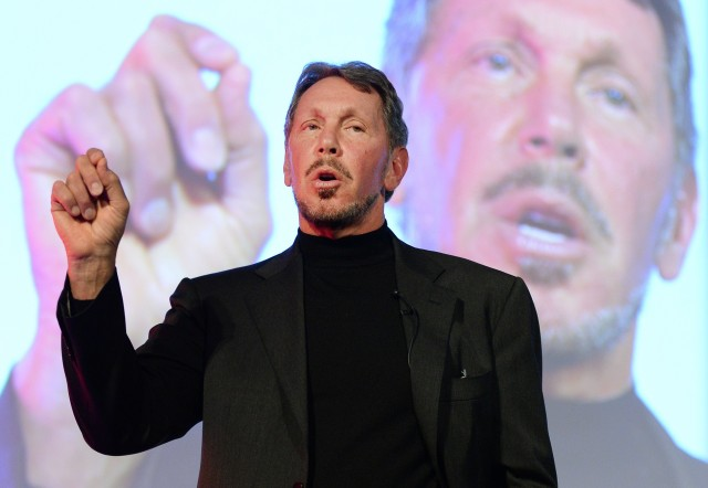 Oracle's Larry Ellison at the New Economy Summit in Tokyo earlier this year.  (Toru Yamanaka/AFP-Getty Images)