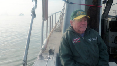 Barry Canavero has run Fish Hookers Sport Fishing for 41 years. (Lisa Morehouse/KQED)
