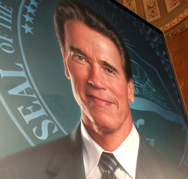 Gov. Arnold Schwarzenegger's official state Capitol portrait, unveiled in a ceremony on Sept. 8. (Photo: John Myers/KQED)