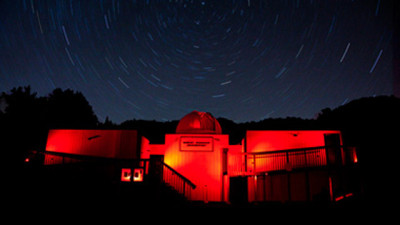 The Robert Ferguson Observatory as seen at night. (Courtesy Mark Hillestad)