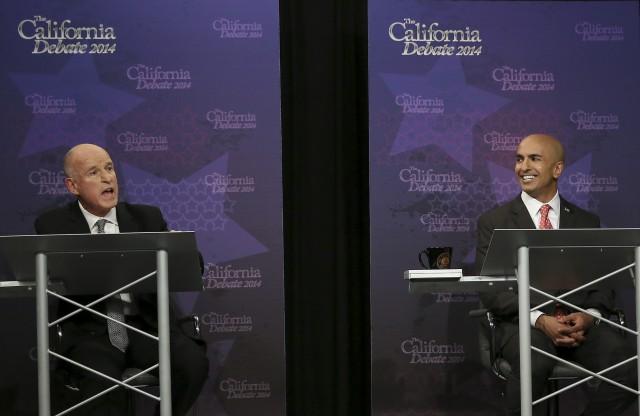 Gov. Jerry Brown and GOP challenger Neel Kashkari clash in Sept. 4 gubernatorial debate. (Photo: Rich Pedroncelli, AP/Pool)