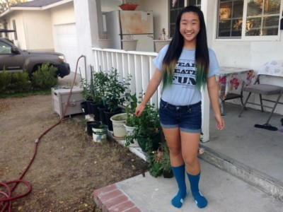 Vionna Peng, 13, says the best part of middle school is self  discovery. Photo credit: Mary Plummer