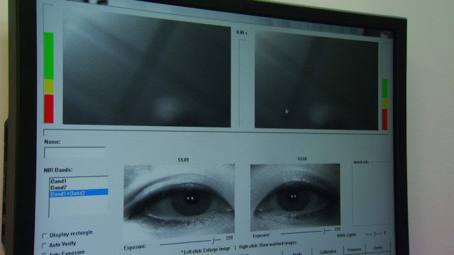 Without public notice, Los Angeles County law enforcement officials are building a massive database of biometric information, including iris scans. (KNBC)