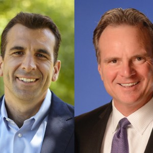 San Jose mayoral candidates Sam Liccardo, left, and Dave Cortese.