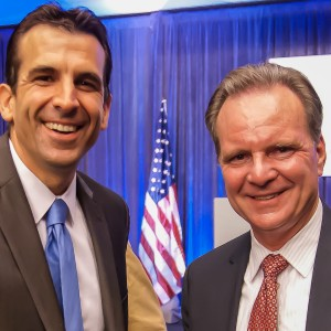 San Jose mayoral candidates Sam Liccardo (left) and Dave Cortese. (Mike Ridola/KQED)