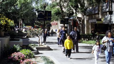 The Fulton Mall in downtown Fresno. (Courtesy of the Downtown Fresno Coalition)