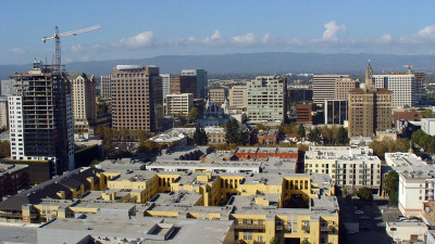 Silicon Valley's capital city San Jose, California as seen in this aerial photo from 2011. (Helene LABRIET-GROSS/AFP/Getty Images)
