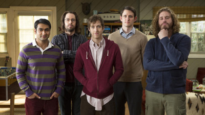 """Silicon Valley"" actors (from left to right): Kumail Nanjiani, Martin Starr, Thomas Middleditch, Zach Woods, T.J. Miller. (Isabella Vosmikova/HBO)"