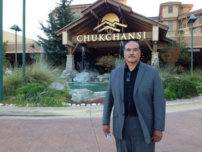Tex McDonald leads the faction that forcibly entered the Chukchansi Gold Resort and Casino on Oct. 9. (Ezra Romero/KVPR)