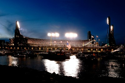 AT&T Park during Game 3 of the 2014 World Series. (Rob Carr/Getty Images)
