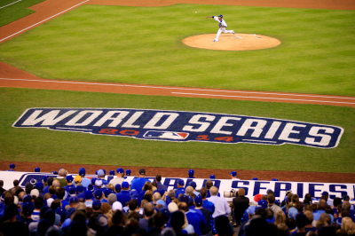 The start of World Series Game Six, Tuesday night in Kansas City. (Jamie Squire/Getty Images)