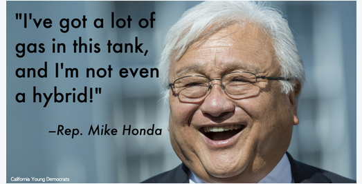 Supporters of Mike Honda wasted no time turned this quip from the debate into an Internet meme. (Courtesy California Young Democrats)