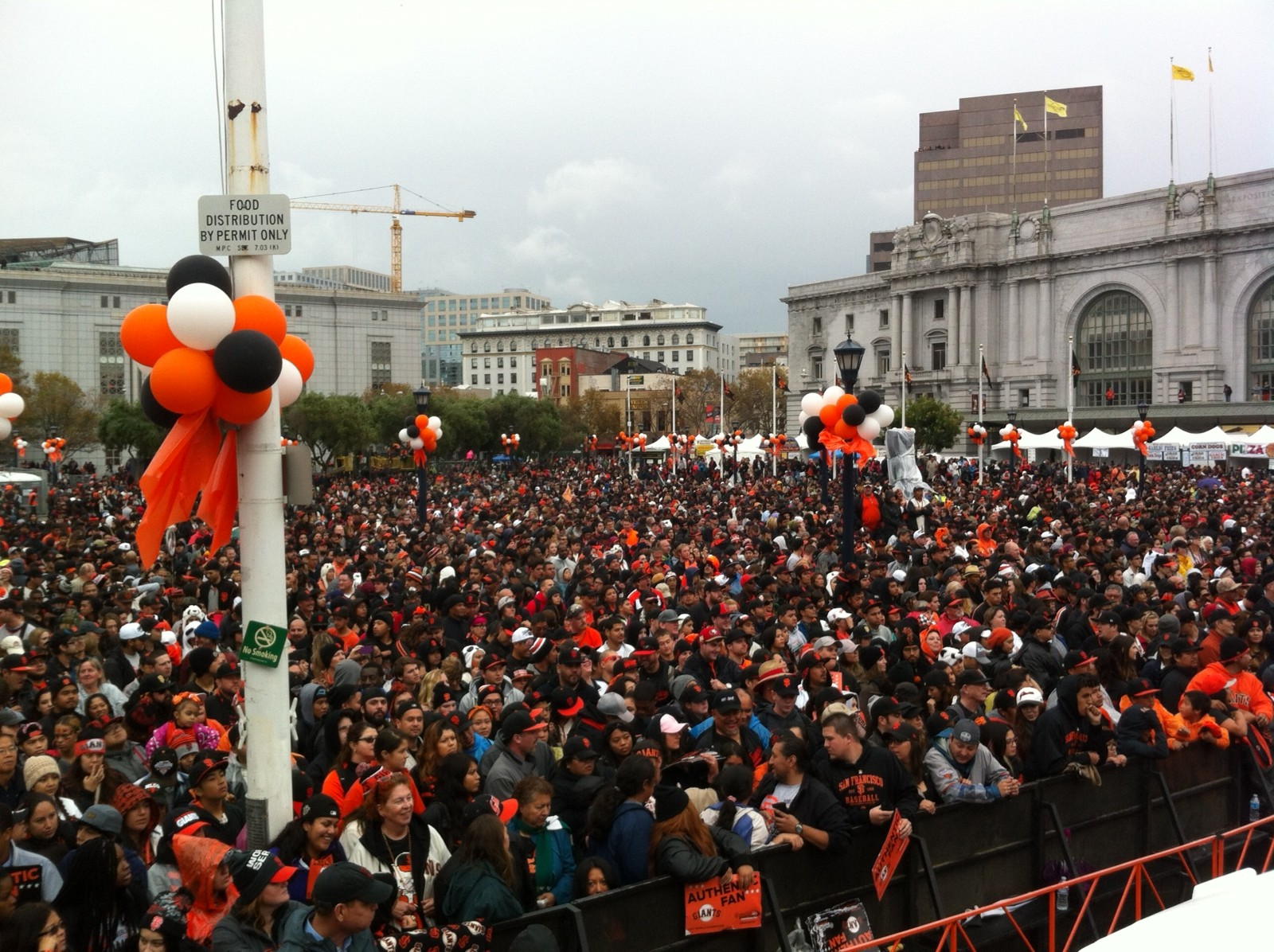 People pack into Civic Center for the rally. (Nick Morris/KQED)