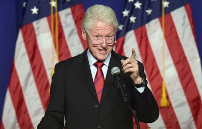 Former President Bill Clinton during a get-out-the-vote rally on Wednesday in Oxnard. (Frederic J. Brown/AFP-Getty Images)
