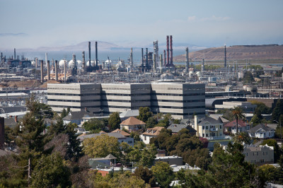 The Chevron Oil Refinery in Richmond.