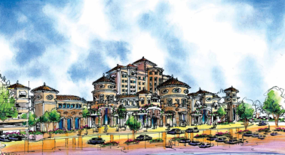 Architectural rendering of Madera County casino that's the subject of Proposition 48. (North Fork Casino environmental impact statement)