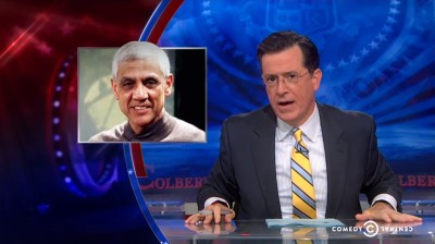 """The Colbert Report"" takes on Vinod Khosla and his closing of Martins Beach."