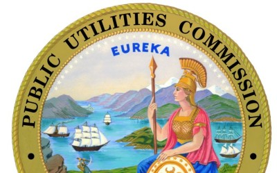 The seal of the California Public Utilities Commission.