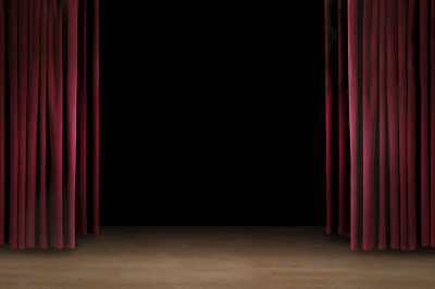 Empty Stage-Stock Image