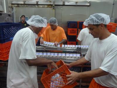 Inmates at work. (Lisa Morehouse/KQED)