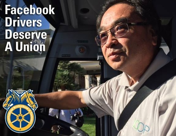 Teamsters Launch Drive to Organize Facebook Bus Drivers