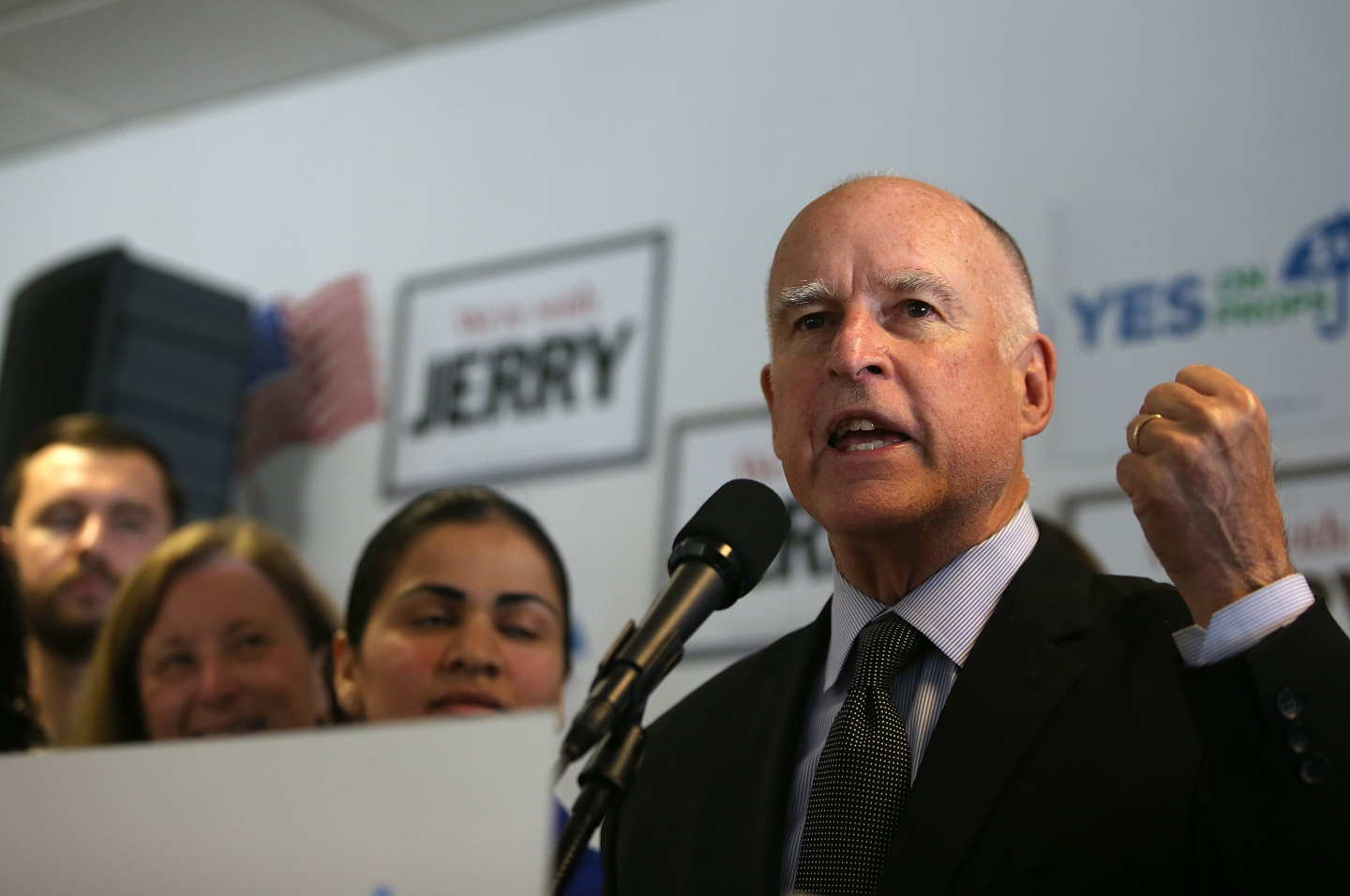 Jerry Brown won an unprecedented fourth term as California governor. (Justin Sullivan/Getty Images)