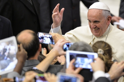 Pope Francis I during an audience at the Vatican earlier this month. (Andreas Solaro/AFP-Getty Images)