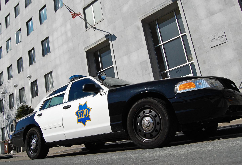 An SFPD squad car.