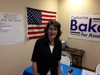 Catharine Baker at campaign office in San Ramon. (Cy Musiker/KQED)