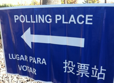 polling place sign