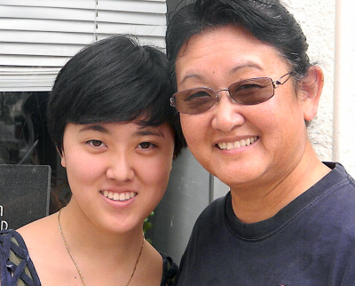 Lynn Ikeda and her 21-year-old daughter, Emi. (Alice Daniel/KQED)