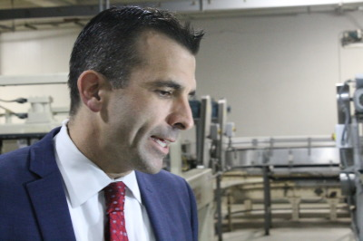 San Jose's Mayor-elect Sam Liccardo on election night.  (Nicholas Ibarra / SJSU)